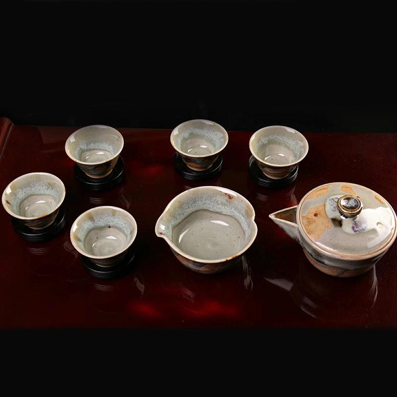 鸿木斋 日式茶具 日本回流昭和时期唐津烧 日本茶道 孤品CJ247 (2).jpg