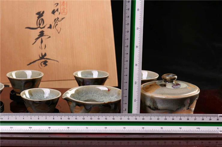 鸿木斋 日式茶具 日本回流昭和时期唐津烧 日本茶道 孤品CJ247 (7).jpg