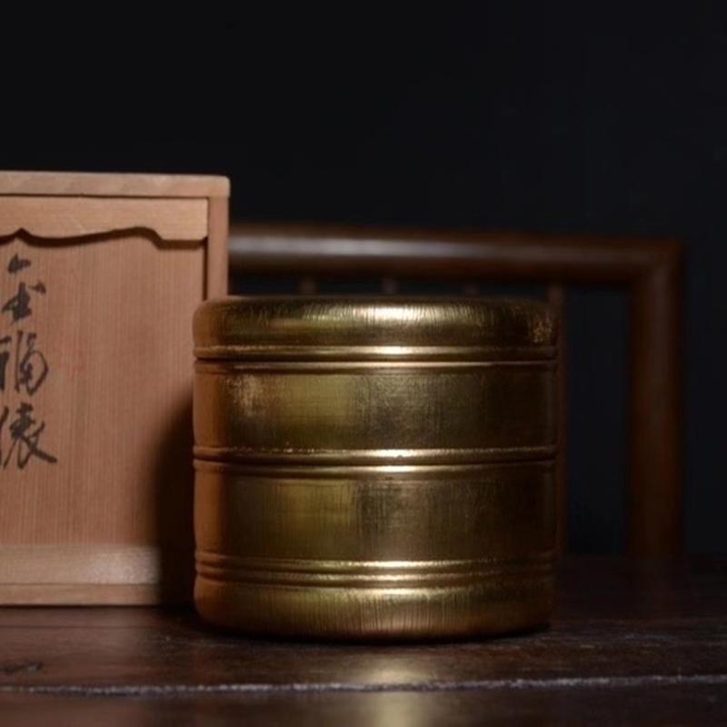鸿木斋 日式茶具 日本回流昭和时期果子盒 孤品CJ287 (1).jpg