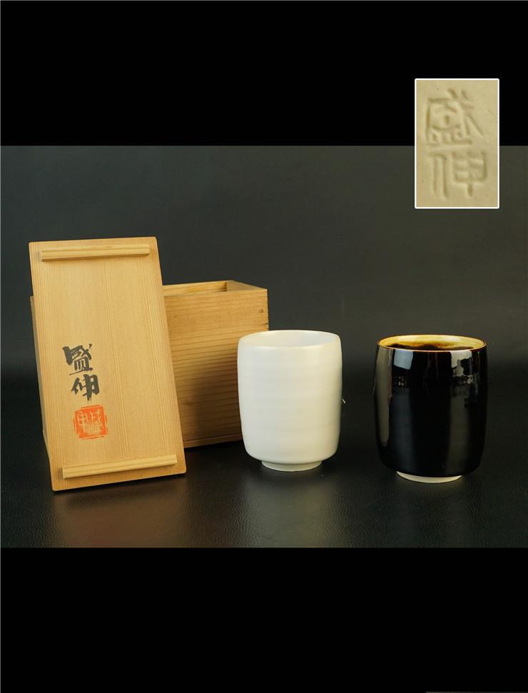鸿木斋 日式茶具 日本回流昭和时期夫妻杯 孤品CJ280 (5).jpg