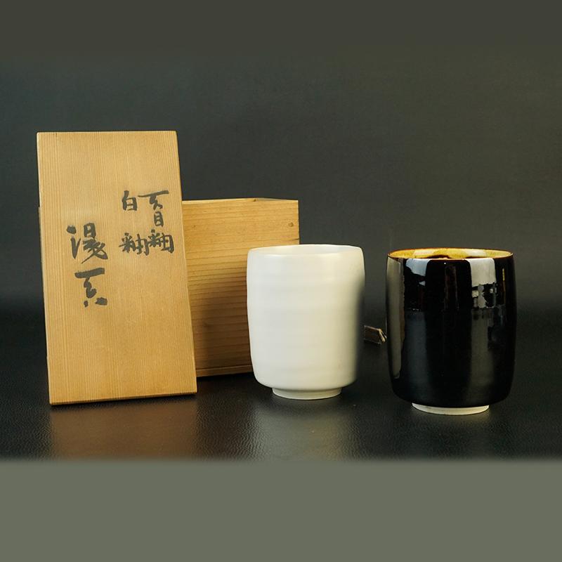 鸿木斋 日式茶具 日本回流昭和时期夫妻杯 孤品CJ280 (1).jpg